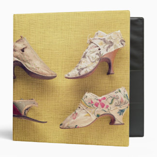 Pair of embroidered shoes, c.1714 binder