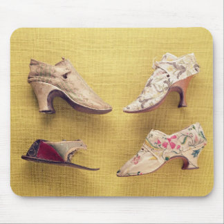 Pair of embroidered shoes, c.1714 mouse pad