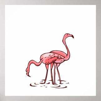 Pair of Flamingos Posters