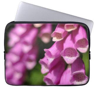 Pair of Foxglove Flowers Computer Sleeve