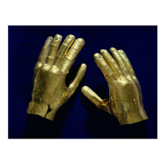 Pair of funerary hands, from Peru, c.200-c.800 Postcard