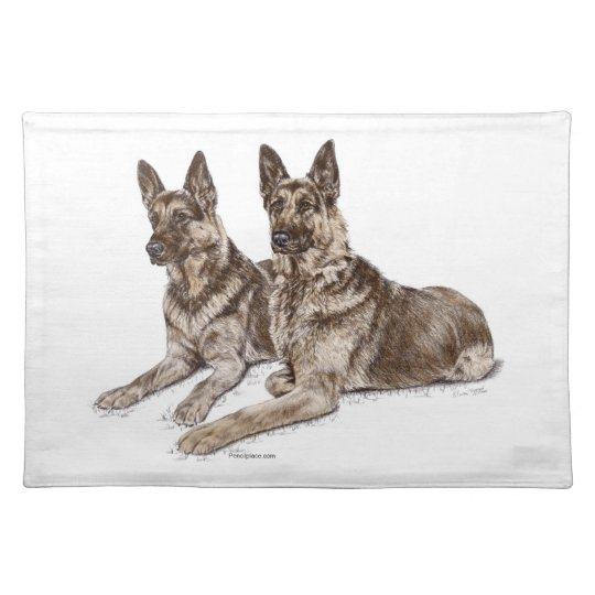 Pair of German Shepherd Dogs Placemat
