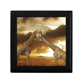 Pair of Giraffes Jewelry Boxes
