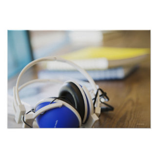 Pair of Headphones Poster