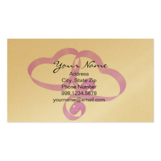 Pair of Heart Ribbon Business Card