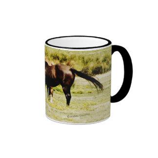 Pair of Horses Ringer Coffee Mug