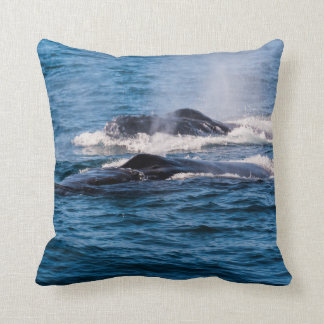Pair of Humpback Whales Throw Pillow