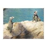 Pair of Iguanas Gallery Wrapped Canvas