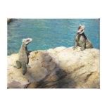 Pair of Iguanas Tropical Wildlife Photography Canvas Print