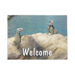 Pair of Iguanas Tropical Wildlife Photography Doormat