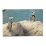 Pair of Iguanas Tropical Wildlife Photography Placemat
