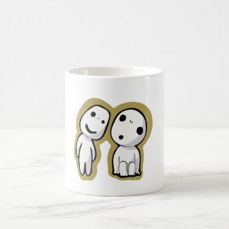 Pair of kodamas coffee mugs