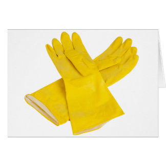 Pair of latex gloves card