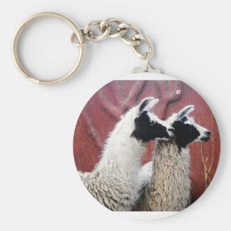 Pair of Llamas Keychain
