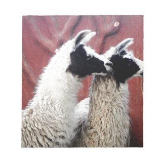 Pair of Llamas Notepad