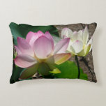 Pair of Lotus Flowers I Decorative Pillow