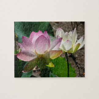 Pair of Lotus Flowers I Jigsaw Puzzle