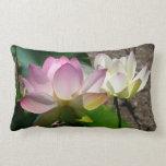 Pair of Lotus Flowers I Lumbar Pillow