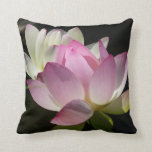 Pair of Lotus Flowers II Throw Pillow