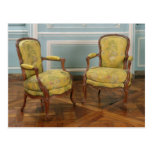 Pair of Louis XV armchairs, 1723-74 Post Cards