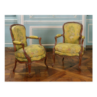 Pair of Louis XV armchairs, 1723-74 Postcard