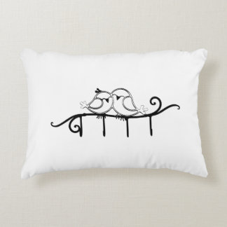 Pair of Love Birds Accent Pillow