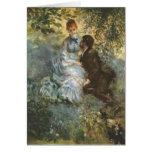 Pair of Lovers by Pierre Renoir Greeting Card