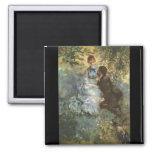 Pair of Lovers by Pierre Renoir Refrigerator Magnets