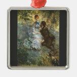 Pair of Lovers by Pierre Renoir Christmas Tree Ornament