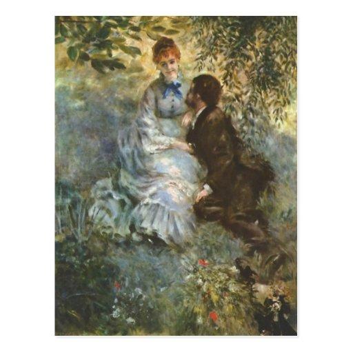 Pair of Lovers by Pierre Renoir Post Cards