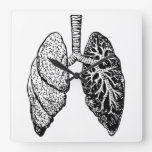 pair of lungs clock