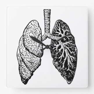 pair of lungs clock