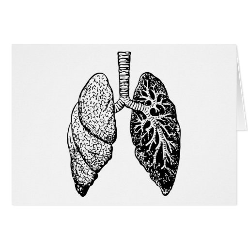 pair of lungs greeting card