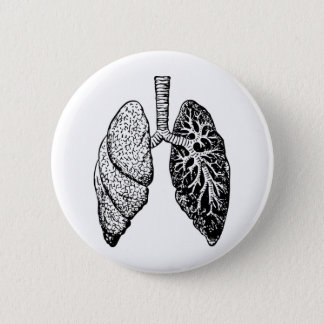 pair of lungs pinback button