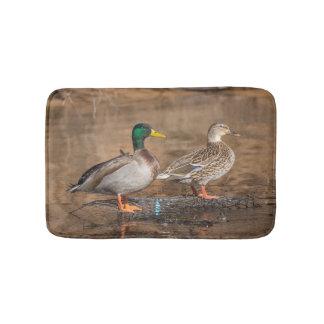 Pair Of Mallard Ducks Mat Bathroom Mat