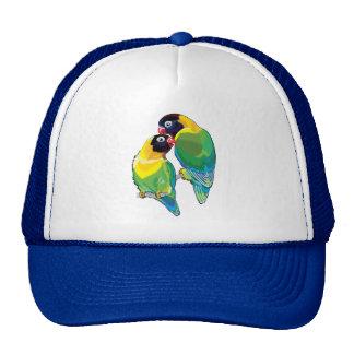 pair of masked lovebirds trucker hat