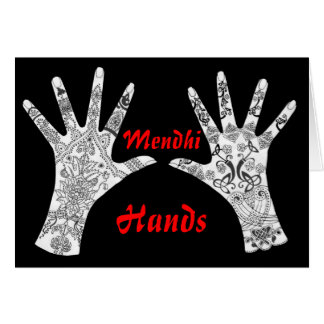 Pair of Mendhi Hands Card