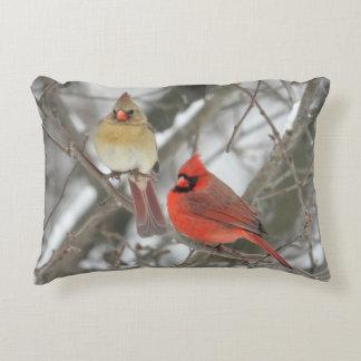 Pair Of Northern Cardinals Decorative Pillow