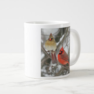 Pair Of Northern Cardinals Giant Coffee Mug