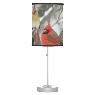 Pair Of Northern Cardinals Table Lamp