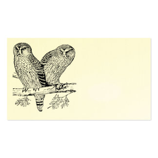 Pair of Owls Business Card Template