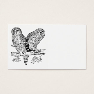 Pair of Owls Business Card