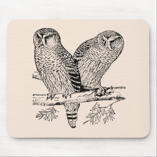 Pair of Owls Mouse Pads