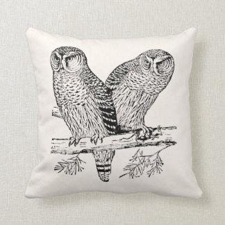 Pair of Owls Throw Pillow