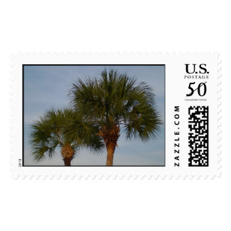 Pair of palm trees postage
