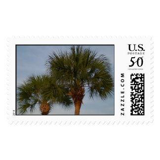 Pair of palm trees stamp