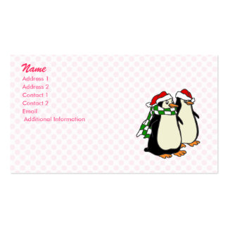 Pair of Penguins Business Card