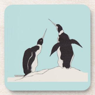 pair of penguins coaster