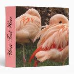 Pair of Pink Flamingos 3 Ring Binder