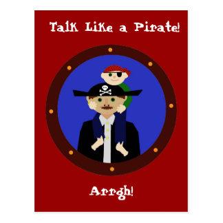 Pair of Pirates, Arrgh! Postcard
